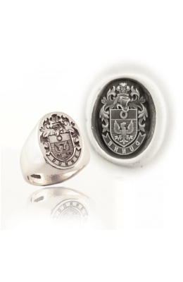 Hand-engraved Signet rings